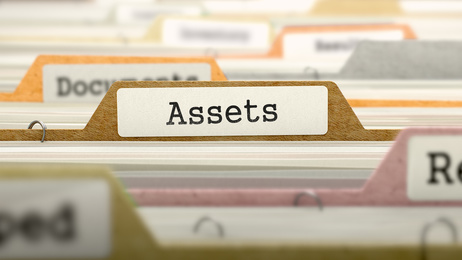 File Folder Labeled as Assets.