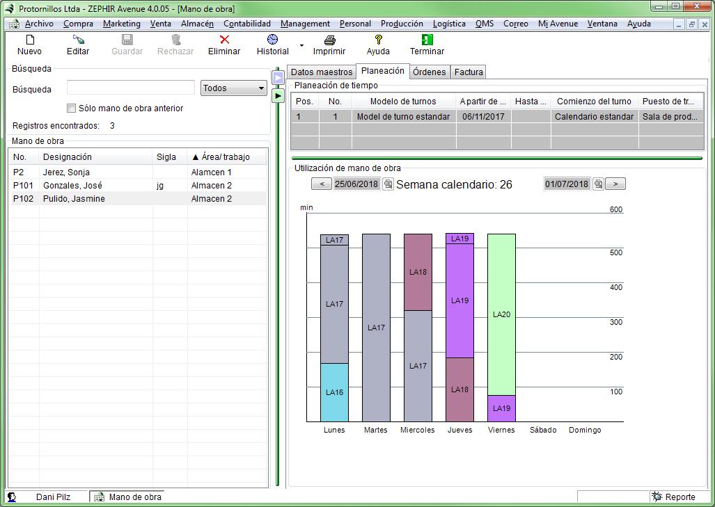 Utilización Planificación de recursos humanos